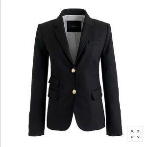 Sz 2 j.crew black classic school boy blazer